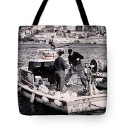 Fishing On The Golden Horn Tote Bag by Joan Carroll
