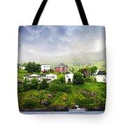 Fishing Village In Newfoundland Tote Bag by Elena Elisseeva