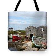 Fishing Village In Nova Scotia Tote Bag