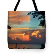 Fitting Sunset Tote Bag