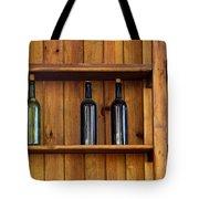 Five Bottles Tote Bag by Carlos Caetano