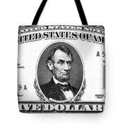Five Dollar Bill Tote Bag