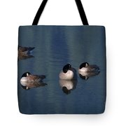 Five Geese Napping Tote Bag