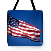 Flag On The Ladder Tote Bag