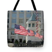 Flags On The Avenue Tote Bag