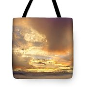 Flagstaff Fire Sky Boulder Colorado Tote Bag