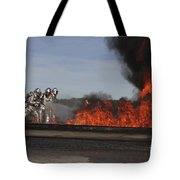 Flames Billow Out Of The Burn Pit Tote Bag
