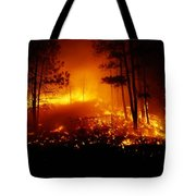 Flames From A Forest Fire Light Tote Bag