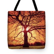 Flaming Oak Tote Bag