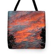 Flaming Sky Tote Bag