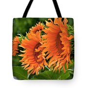 Flaming Sunflowers Tote Bag