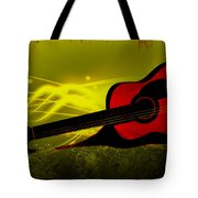 Flaming Wood Tote Bag