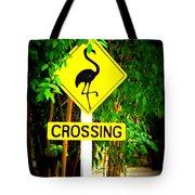 Flamingo Crossing Tote Bag