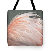Flamingo Feather Details Tote Bag