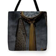Flatiron Building And Clock Tote Bag