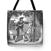 Flaying Of Christian Tote Bag