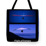 Flight Of Fantasy With Caption Tote Bag