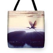 Flight Of The Egret V1 Tote Bag