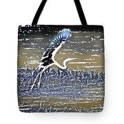 Flight Of The Egret V5 Tote Bag