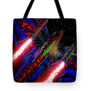 Flight Of The Firey Dragon Tote Bag