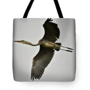 Flight Of The Great Blue Heron Tote Bag