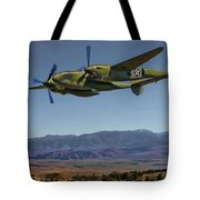 Flight Over The Sierras Tote Bag
