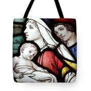 Flight To Egypt Stained Glass Tote Bag
