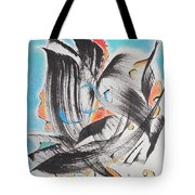 Flight Toward Blue Tote Bag