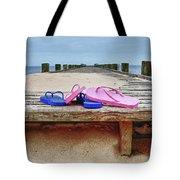 Flip Flops On The Dock Tote Bag