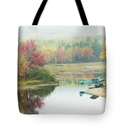 Float Plane On Pond Near Golden Road Maine Photo Poster Print Tote Bag