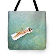 Floating At Sea Tote Bag