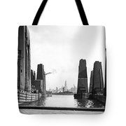 Floating Grain Elevators In Ny Tote Bag
