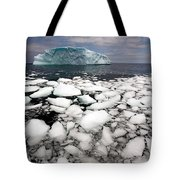 Floating Ice Shattered From Iceberg Tote Bag