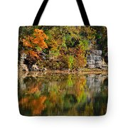 Floating Leaves In Tranquility Tote Bag