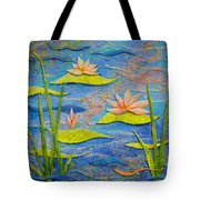 Floating Lilies Tote Bag