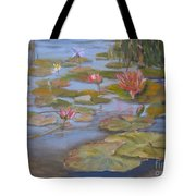 Floating Lillies Tote Bag by Mohamed Hirji