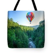 Floating Over Quechee Gorge Tote Bag