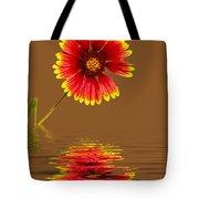 Flooded Beach Flower Tote Bag