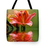 Flooded Lily Tote Bag