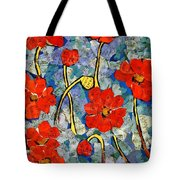 Floral Art - Red Poppies Tote Bag