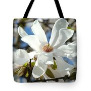 Floral Art Prints White Magnolia Flowers Tote Bag