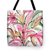 Floral Fourteen Tote Bag