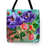Floral Frenzy Tote Bag