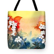 Floral Neklace Tote Bag by Anil Nene