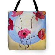 Floral Orb Tote Bag