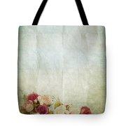 Floral Pattern On Old Paper Tote Bag
