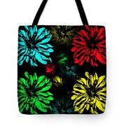Floral Pop Art Tote Bag