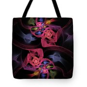 Floral Rose Edgy Abstract Tote Bag