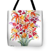 Floral Six Tote Bag