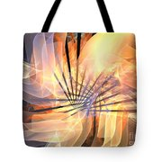 Floral Supernova Tote Bag